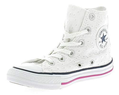 Converse Eyelet Hi Deporte Cotton Chica Zapatillas 356836c White Ct Bianco De 4Iw4r