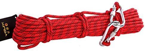 クライミングロープ、10、20、30、40、50メートル、屋外サバイバル安全ロープ火災避難救助ロープ、ヘビーデューティ安全と耐久性のあるロープ、直径8 mm。,10M