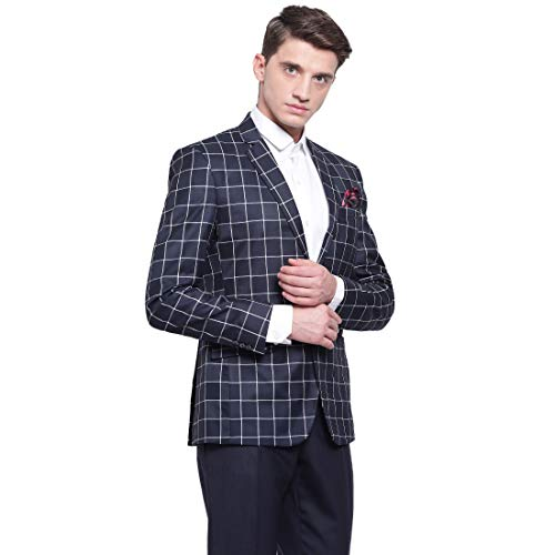 41pv8Ne8R8L. SS500  - MANQ Men's Slim Fit Formal/Party Check Blazer