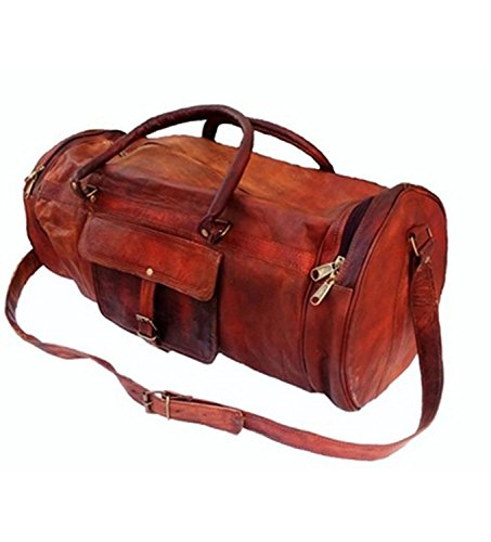 24 Inch Vintage Leather Duffel Travel Gym Sports Overnight Weekend SALE