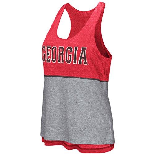 Colosseum Georgia Bulldogs Women's NCAA Red Ross Reversible Burn Out Tank Top