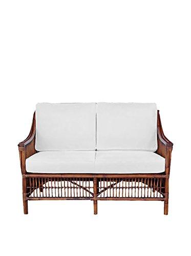 Panama Jack Sunrooms PJS-2001-ATQ-LS Bora Bora Loveseat with Cushions, Light Beige