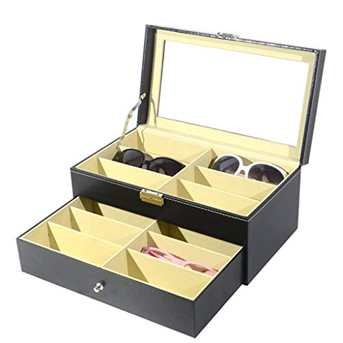 - IslandseSunglasses Organizer for Women Men Multiple Eyeglasses Eyewear Display Case Black