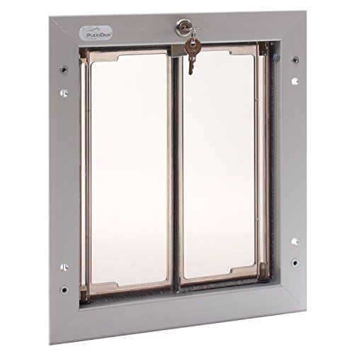 PlexiDor Performance Pet Doors Medium Silver Door Mount