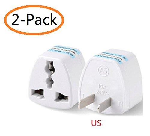 Smile Power Wall (A-Smile@ Travel Plug Adapter for US,High Performance Universal United Kingdom / Europe / Australia to USA Plug Adapter,US Converter,2-Pack,(UK EU AU to US))