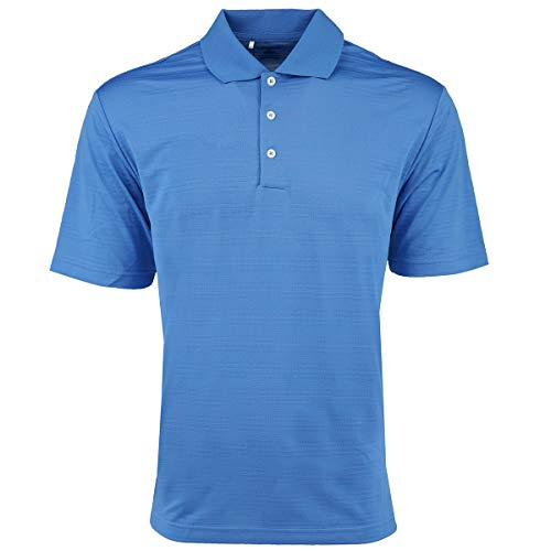 adidas Golf Mens Climalite Textured Short-Sleeve Polo (A161) -Gulf -S