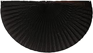 """product image for Funeral decorations by Independence Bunting - American Made Nylon Funeral Bunting! (Nylon - Black, 24"""" x 48"""")"""