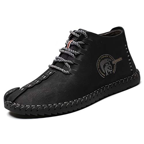 (GanQuan2018 Men's Chukka Boots Slip On Warm Urban Fashion Casual Oxfords)