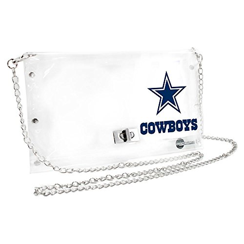 Womens Nfl Game Jersey - NFL Dallas Cowboys Clear Envelope Purse