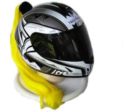 Yellow Ladies Helmet Ponytail Works On Any Motorcycle Skate or Snow Helmet