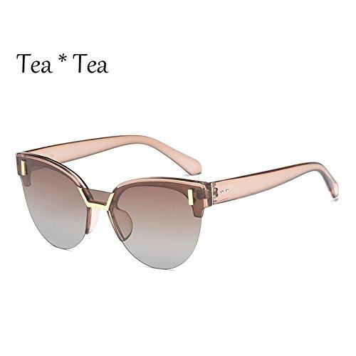 Multi Sunglasses C4 Gris de viaje Bastidor Cat C2 Tea UV Drive Tea Medio Mujer gafas G423 Eye sol gafas TL Gris señoras polarizadas qT8wAdqp