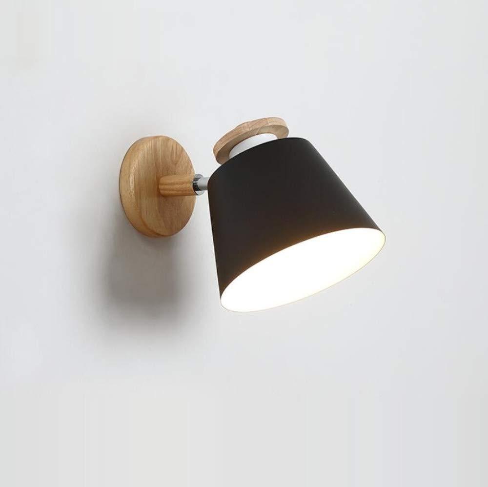 Wandleuchte Nordic Minimalistischen Schwarzen Tv Wandlampe Schlafzimmer Nacht Massivholz Wandleuchte Moderne Holz Wohnzimmer Lampe Gang Lichter