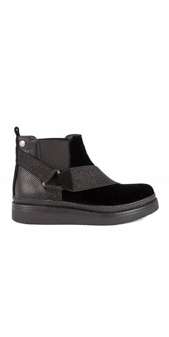 LOIS Botines Terciopelo Elásticos - Color - Negro, Talla Zapatos Mujer - 39: Amazon.es: Zapatos y complementos