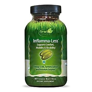 Irwin Naturals Inflamma-Less, Promotes Comfort, Mobility & Flexibility, 80 Liquid Softgels