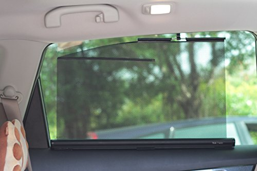 (Retractable Side Window Shades Type B (Two Shades, 22 Inches Wide, Fit Rear Side Windows with Curve-lined Tops. Two-years Warranty.))