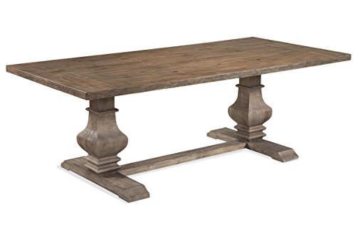 Bassett Mirror Belgian Modern Kinzie Rectangular Dining Table in Rustic Pine