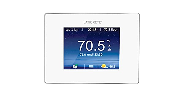 laticrete strata heat programmable touchscreen thermostat for heated rh amazon com Radiant Heat Thermostat Honeywell Thermostat