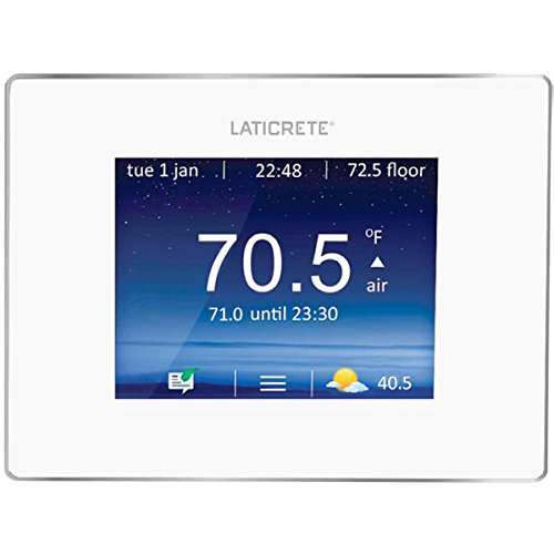 Laticrete Strata Heat Programmable Touchscreen Thermostat for Heated Floors 0802-0403-T with built-in GFCI, 120V/240V