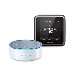 Echo Dot (2nd Generation) - White + Honeywell Lyric T5 Wi-Fi Thermostat