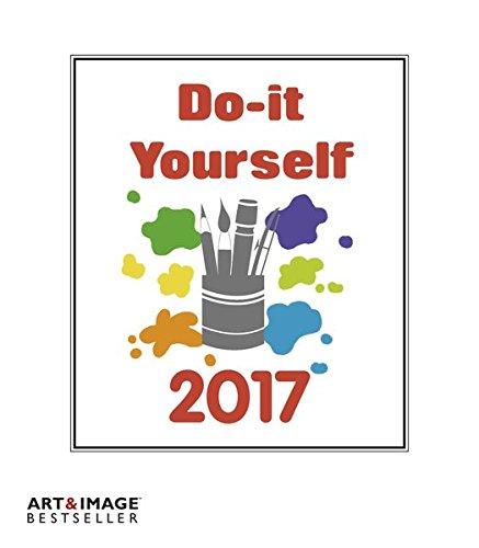 Do-it-yourself 2017 - Bastelkalender 2017 weiß, Kalender zum selber machen, Do-it-yourself Kalender, Malkalender 2017  -  21 x 24 cm