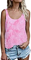 OMSJ Women Shirts Sleeveless Summer Tunic Loose Fit Tank Tops