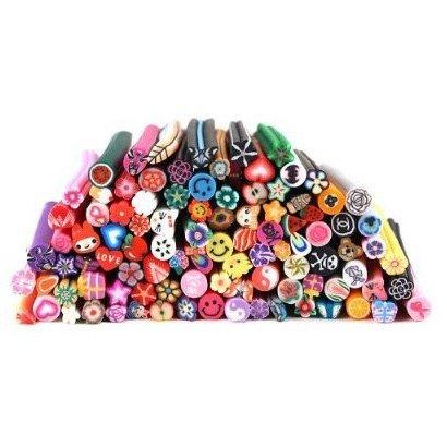 TOOGOO 100 PC 3D Designs Nail Art Nailart Manicure Fimo Canes Sticks Rods Stickers Gel Tips te-drop-ship-el3337