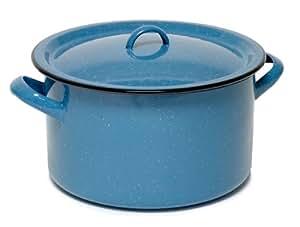 Imusa  Enamel Stock Pot, 12 Quart, Turquoise