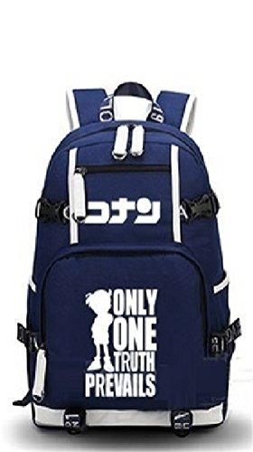Siawasey Detective Conan Cosplay Luminous Bookbag Backpack Shoulder Bag School Bag