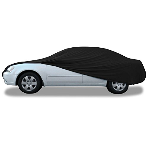Budge Soft Stretch Car Cover Indoor Fits Cars up to 19' Long, BSC-4 (Nylon and Polyester, Black)