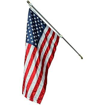Amazon Com Statesman American Flag And Pole Set By