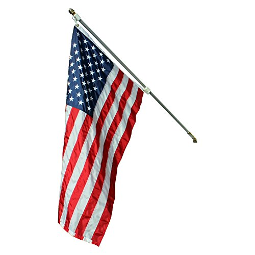 (Federal Flags Statesman American Flag Pole Set Heavy Duty Aluminum Brass Hardware - Built to Last Many Years - Includes 5-Star Rated, Fully Sewn American Flag - Proudly Made in USA)