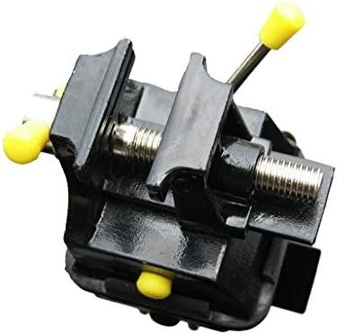ミニベンチバイス 固定ベンチバイス 万力 スイベルベース付き 耐久性 アルミニウム合金製