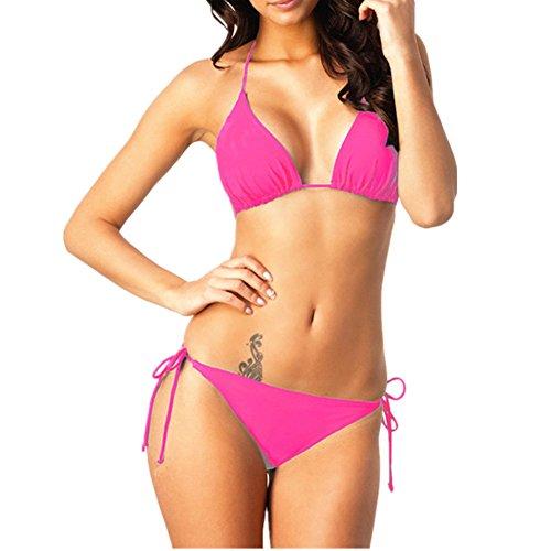 o-c clásica de las mujeres Bikini Set Rosado