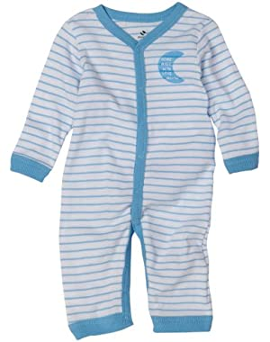 Absorba Newborn Baby Boys' Layette Loungewear Striped Coverall