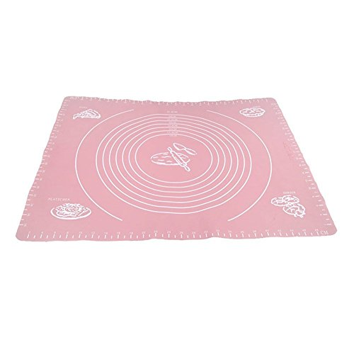 Silicone Dough Kneading Mat With Scale Pink - 3