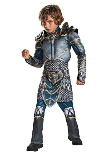 Lothar Classic Muscle Warcraft Legendary Costume, (The Warriors Costume Halloween)