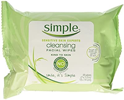 Simple Cleansing Facial Wipes 25 Each