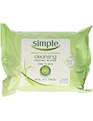 Simple Cleansing Facial Wipes 25 Each (8 Pack)