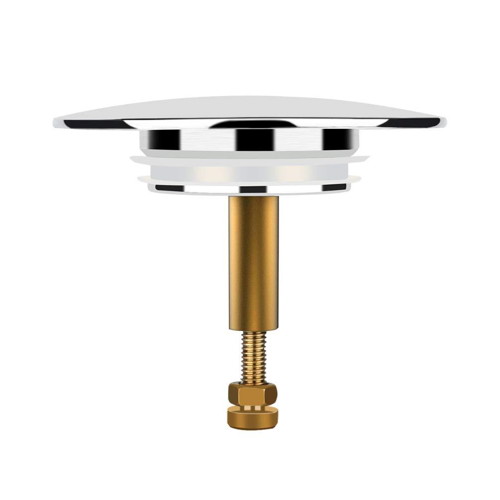 Oladwolf Bath Plug Sink Plug Salle de bain Universal Bassin Plug Réglable 70mm Double Scellé, Cuivre Premium Qualité Premium Cuivre Premium Qualité Premium