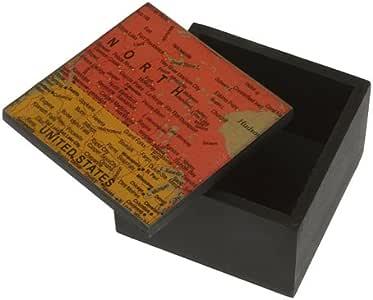 Portico - Caja cuad. mapamundi: Amazon.es: Hogar