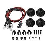 Mxfans 4 White LED Light Kit FZ0029 Buckets Mount for RC 1:10 Rock Crawler