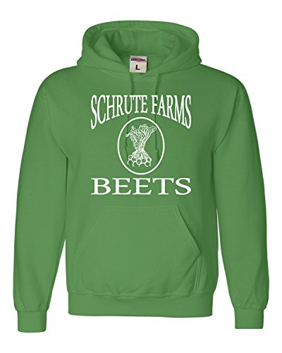 Go All Out Large Irish Green Adult Schrute Farms Beets Sweatshirt Hoodie