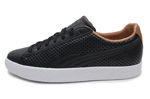 PUMA Select Men's Clyde Colorblock Leather Sneakers, Black,