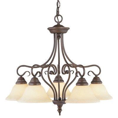 Coronado Chandelier in Imperial Bronze