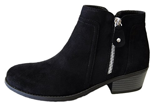 Women's Round Toe Flat Ankle Boots Casual Shoes - 6
