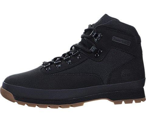 Timberland Mens Euro Hiker Black Boot - 9 (Timberland Euro Hiker Black)