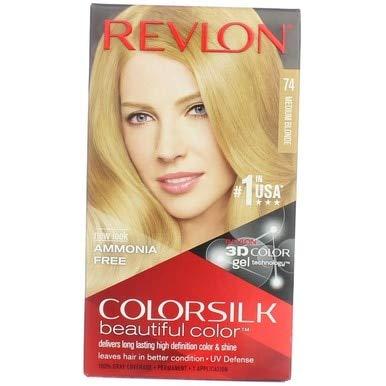 Revlon ColorSilk Hair Color [74] Medium Blonde 1 Each (Pack of 3)