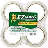 Duck Brand EZ Start Packing Tape Refill, 4 Rolls, 1.88 Inch x 54.6 Yard, Clear (280068)