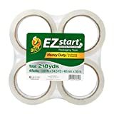 Duck Brand EZ Start Packing Tape Refill, 4