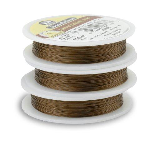 Beadalon 19-Strand Bead Stringing Wire, 0.018-Inch, Bronze, 30-Feet